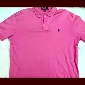 Men's Pink Polo Top